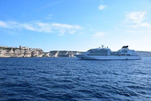 Bonifacio Korsika Kreuzfahrt Kreuzfahrtschiff Seabourn Sojourn Frankreich