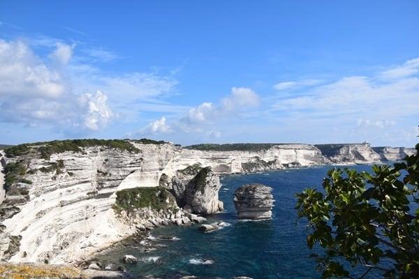Bonifacio Korsika Kalksteinklippen Kalksteinkliff Frankreich
