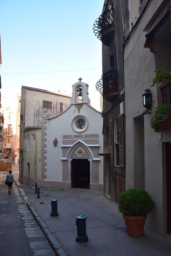 Bonifacio Korsika Altstadt Zitadelle Kapelle Sancte Joannes Baptista Frankreich