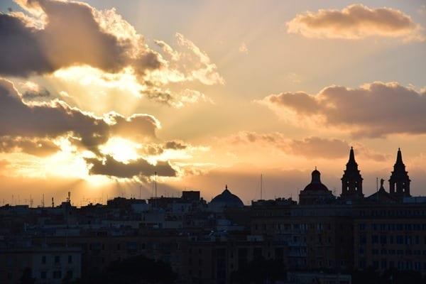 17_Sonnenuntergang-Valletta-Malta