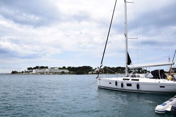 Porec Kroatien Hafen Insel Sveti Nikola Istrien