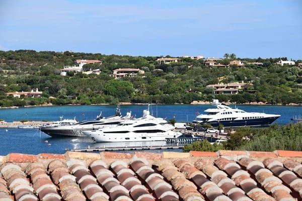 Porto Cervo Yachthafen Costa Smeralda Palau Sardinien Italien