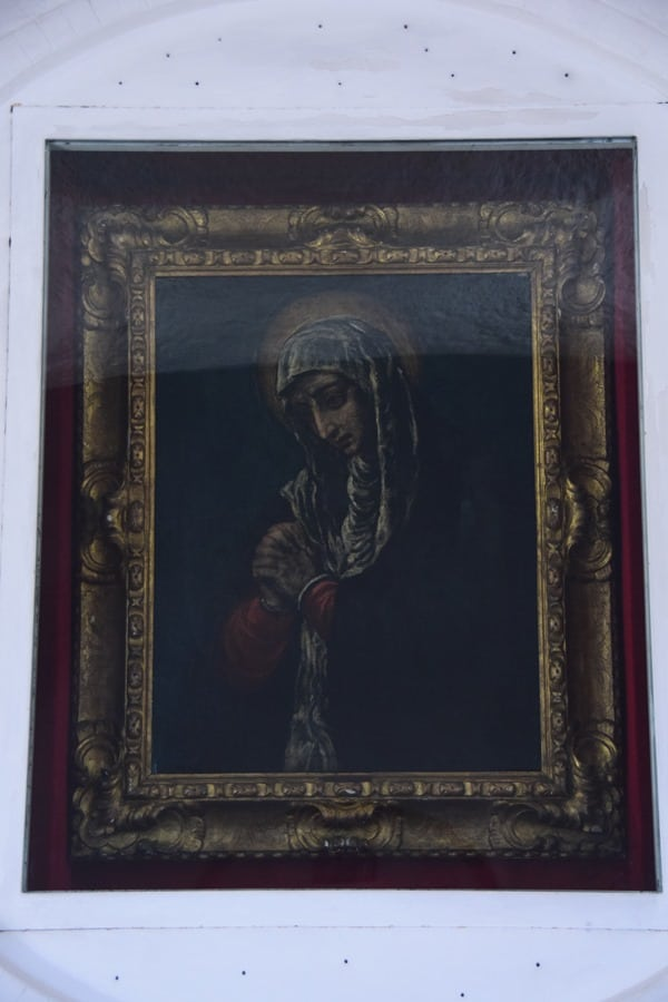 Porto Cervo Kirche Stella Maris Madonna Dolorosa El Greco Costa Smeralda Palau Sardinien Italien