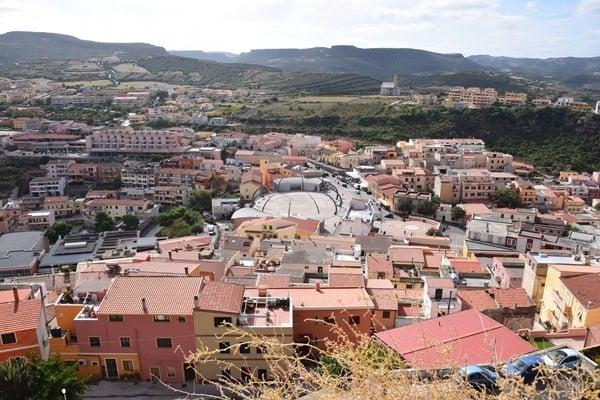 Castelsardo Sardinien Ausblick Stadt Marktplatz Italien