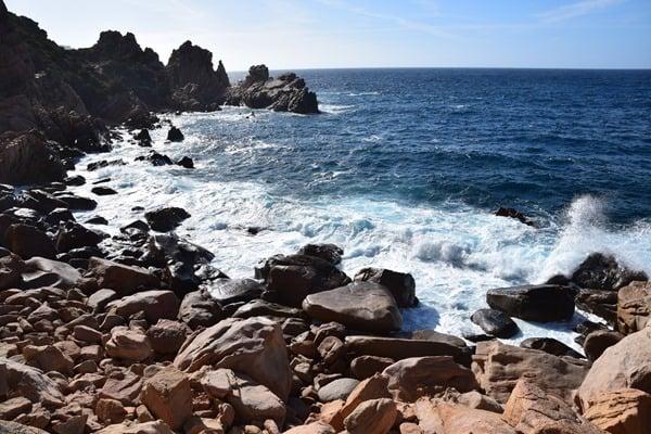 Wilde Küste Steilküste Costa Paradiso Sardinien Italien