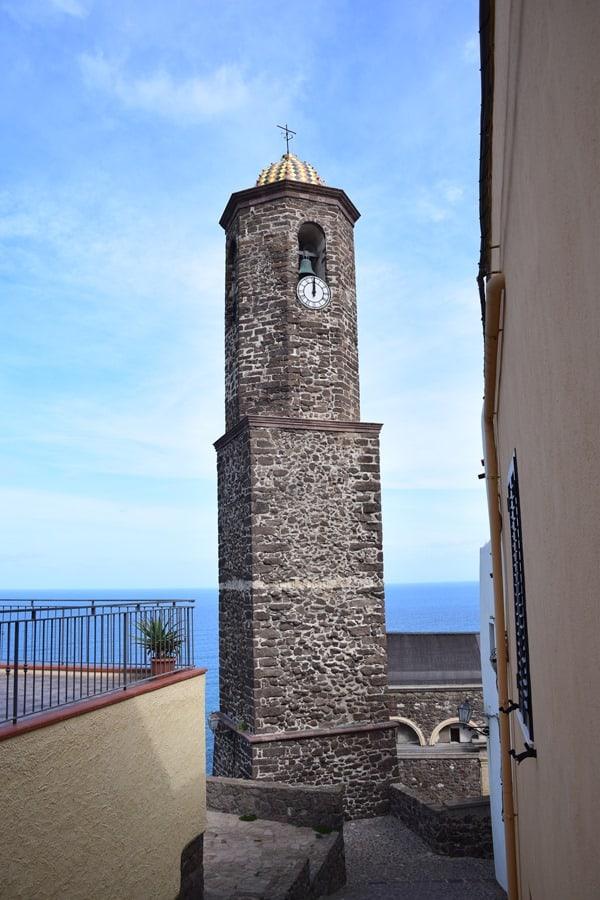 Castelsardo Sardinien Leuchtturm Glockenturm Kirche La Cattedrale di Sant'Antonio Abate Italien
