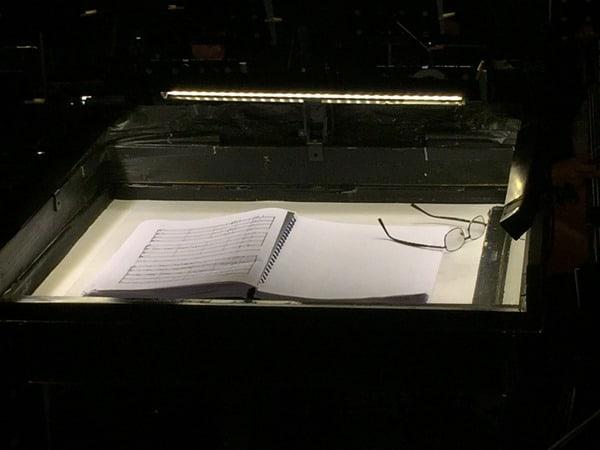 Dirigentenpult Maestro Oper Carmen Arena di Verona Italien
