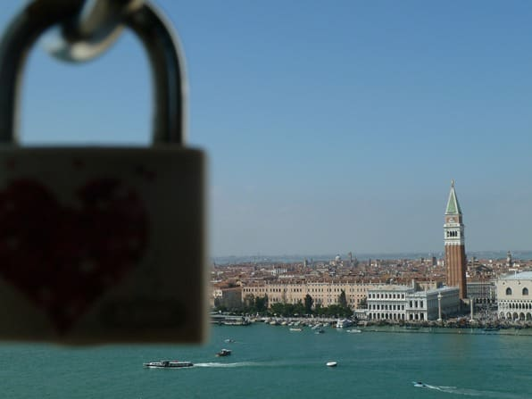 Venedig Liebesschloss San Giorgo Markusplatz