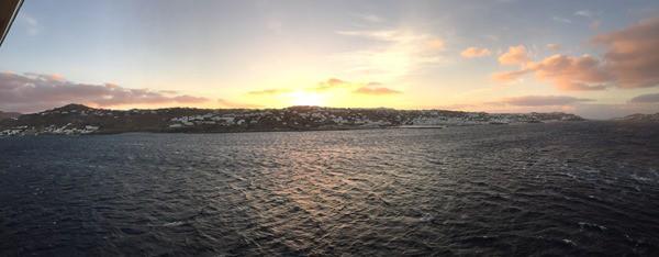 01_Panorama-Sonnenaufgang-Mykonos-Kreuzfahrt-Oestliches-Mittelmeer