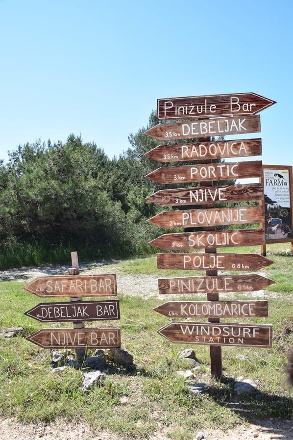 Wegweiser Naturpark Kap Kamenjak Istrien Kroatien