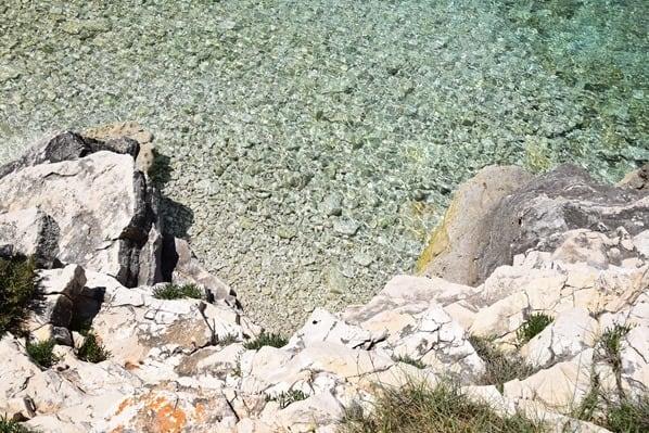 Kristallklares Meer Naturpark Kap Kamenjak Wandern Istrien Kroatien