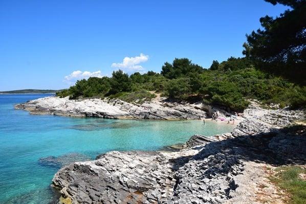 Badestrand Meer Naturpark Kap Kamenjak Wandern Istrien Kroatien