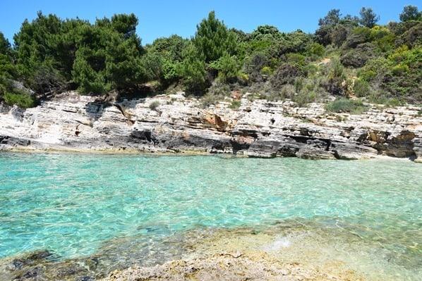 Bucht Strand Meer Naturpark Kap Kamenjak Wandern Istrien Kroatien