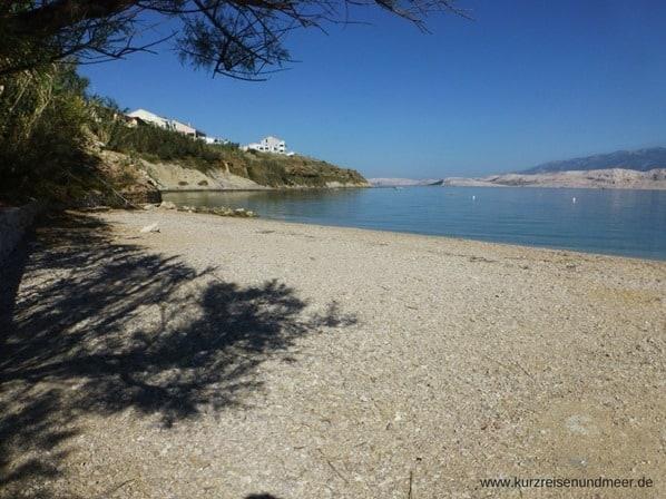 Strand-Insel-Pag-Kroatien
