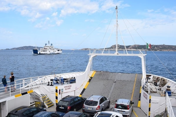 La Maddalena Fähre Palau Sardinien Italien Mittelmeer
