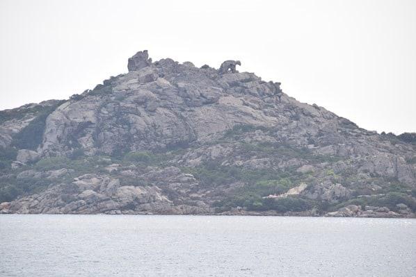 La Maddalena Fähre Bärenfelsen Capo D'Orso Palau Sardinien Italien Mittelmeer