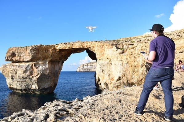 Azure Window Gozo Malta Reiseblogger Adi Drohne