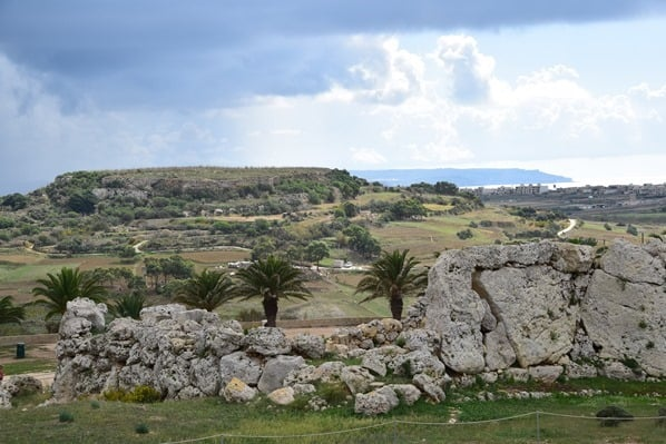 Gozo Malta Wandern Sehenswürdigkeiten Ausgrabung Ggantija Tempel in Xaghra