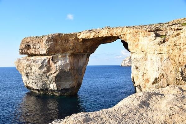 Azure Window Einsturz Gozo Malta Mittelmeer