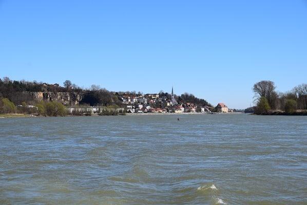 arosa Flusskreuzfahrt Donau Fluss Ausblick Heck Österreich