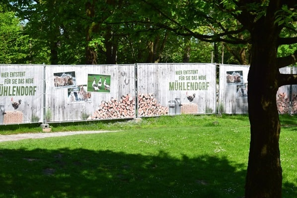 Baustelle Muehlendorf Tierpark Hellabrunn Zoo Muenchen