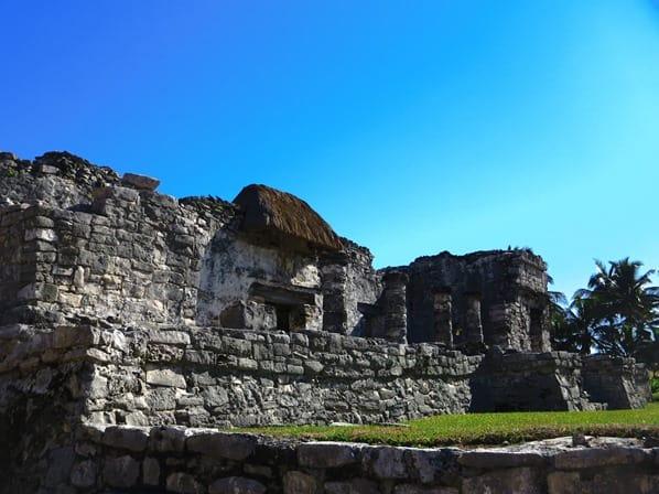 Tulum Mexiko Maya Tempel des herabsteigenden Gottes Ruine Yucatan Karibik