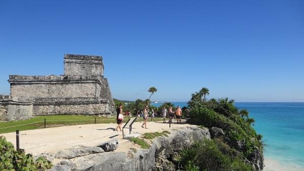 Tulum Mexiko Maya Ruine Schloss El Castillo Yucatan Karibik Meer