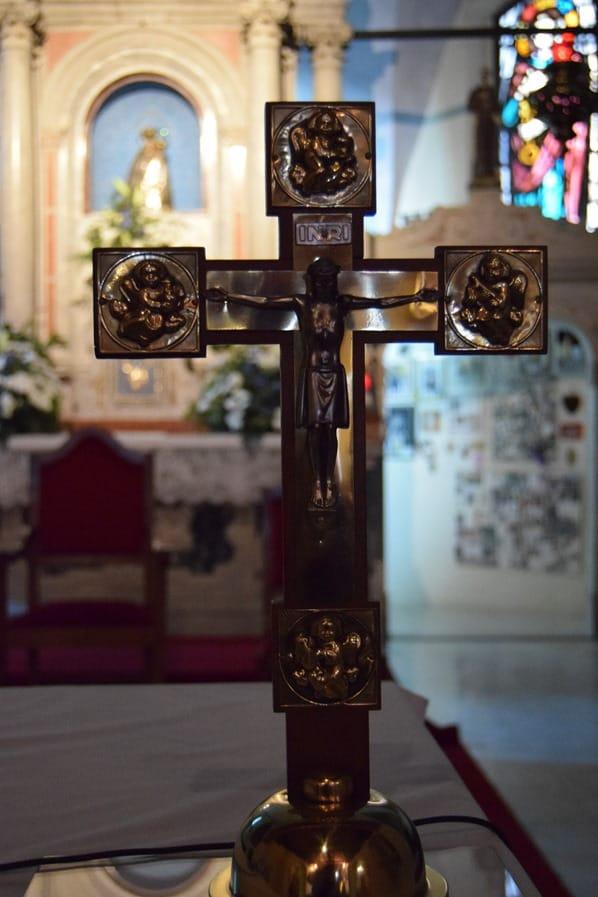 Kreuz Wallfahrtskirche Montesanto Di Lussari Friaul Julisch-Venetien Italien