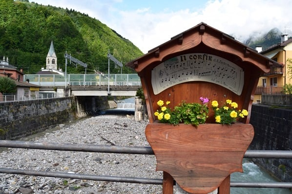 Ciclovia Alpe Adria Radweg Brücke Pontebba Friaul Julisch-Venetien Italien