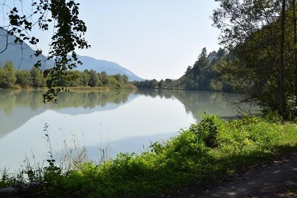 Eindrücke Drauradweg Drau Ufer Kärnten Österreich