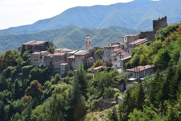 Triora Hexendorf Alpen Ligurien Italien