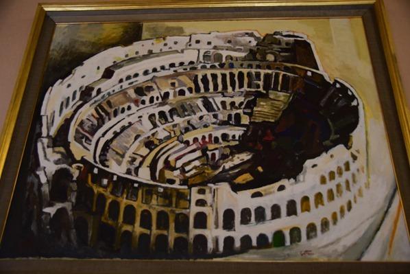 Vatikan Vatikanische Museen Rom Zeitgenössische Kunst Gemälde Kolosseum Italien