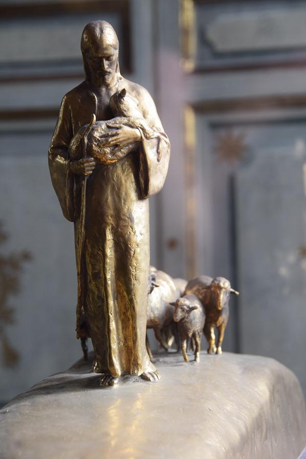 Vatikan Vatikanische Museen Rom Zeitgenössische Kunst Jesus der Hirte Italien