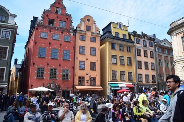 Stockholm Sehenswürdigkeiten Altstadt Stortorget Gamla Stan Schweden Ostsee Kreuzfahrt