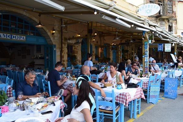 Taverne Restaurant Alter Hafen Chania Kreta Griechenland