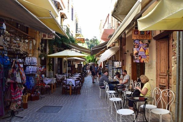 Altstadt Chania Kreta Gassen Einkaufen Griechenland