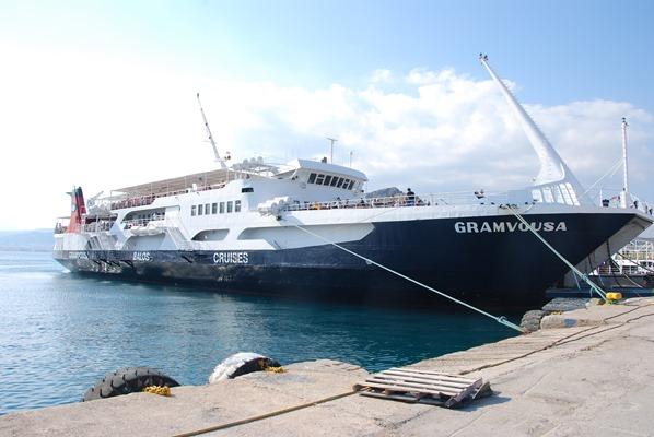 Ausflugsboot Kissamos Hafen Gramvousa Balos Kreta Chania Griechenland