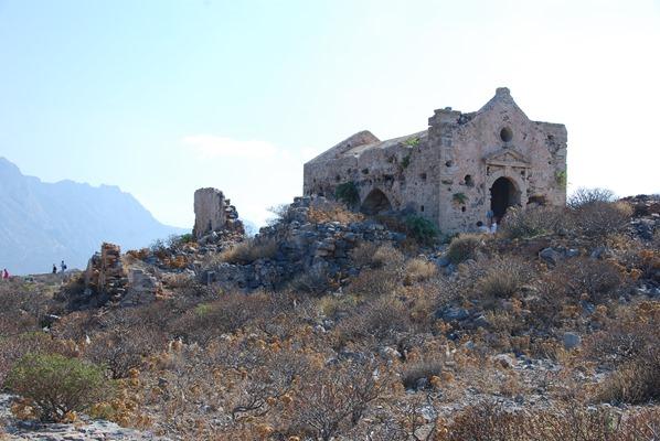 Insel Gramvousa Kapelle Ruine Kreta Chania Griechenland