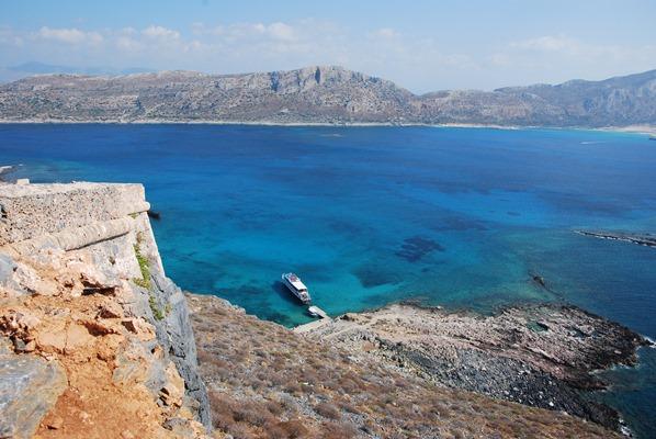 Insel Gramvousa Aussicht Balos Kreta Chania Griechenland