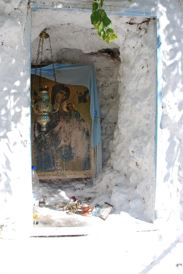Kloster von Chrisoskalitissa Marien Ikone Kreta Chania Griechenland
