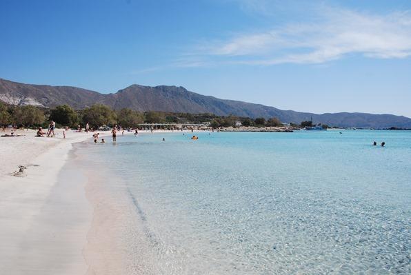Traumstrand Rosa Sandstrand Elafonisi Kreta Chania Griechenland
