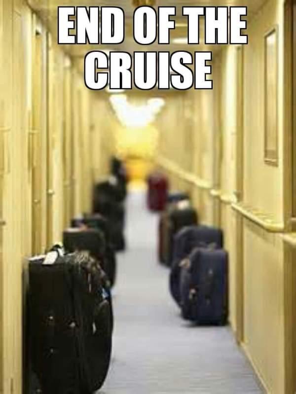 end of cruise ende der kreuzfahrt