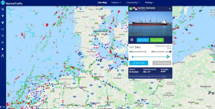 karte kreuzfahrt kreuzfahrtschiff schiffsposition schiffsradar