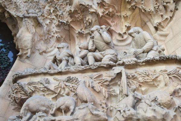 die hirten an der krippe kathedrale sagrada familia barcelona spanien aida familien kreuzfahrt