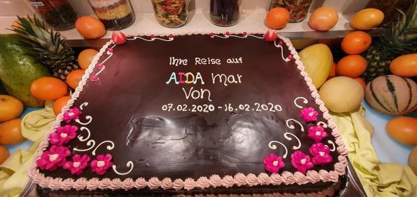 farewell torte buffet kreuzfahrtschiff aidamar aida familien kreuzfahrt