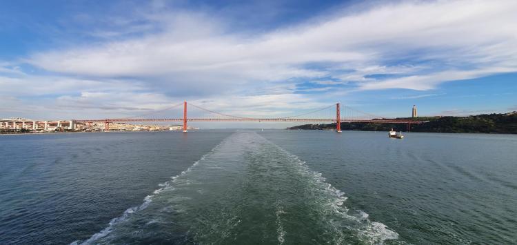 blogparade kreuzfahrt aidamar kielwasser tejo lissabon portugal aida familien kreuzfahrt