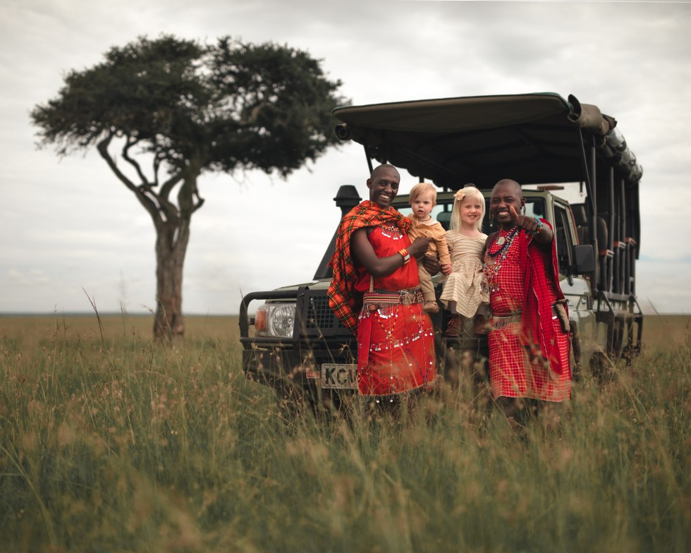 With our new friends Jack and Mpandi in Maasai Mara.