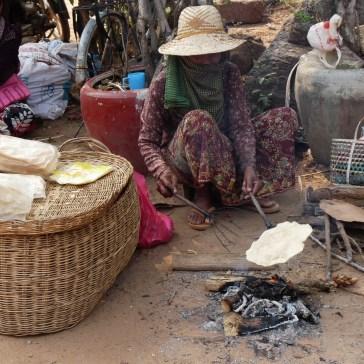 Fladenbrot in Kambodscha
