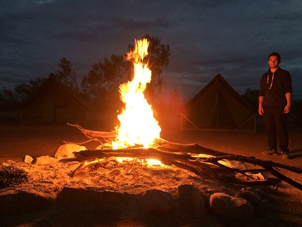 Lagerfeuer Outback Australien