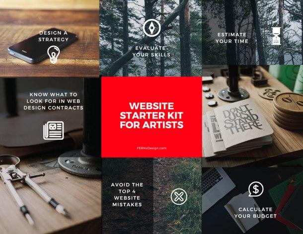 FERNxDesign website starter kit for artists